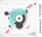 abstract graphic design... | Shutterstock .eps vector #713512387