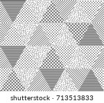vector seamless pattern.... | Shutterstock .eps vector #713513833