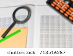 mental arithmetic blurred... | Shutterstock . vector #713516287