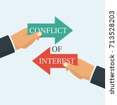 conflict of interest. business... | Shutterstock .eps vector #713528203