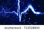blue ekg electrocardiogram... | Shutterstock . vector #713528833