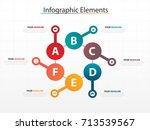 modern business timeline... | Shutterstock .eps vector #713539567