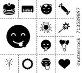 happy icon. set of 13 filled...   Shutterstock .eps vector #713539897