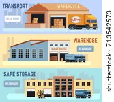 warehouse  shipping... | Shutterstock .eps vector #713542573