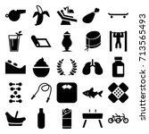 healthy icons set. set of 25... | Shutterstock .eps vector #713565493