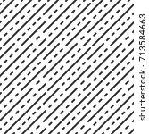 dot dashed line. geometric... | Shutterstock .eps vector #713584663