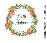 hand made greeting card with ... | Shutterstock . vector #713585257