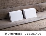 photo of business cards....   Shutterstock . vector #713601403