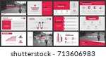business presentation slides... | Shutterstock .eps vector #713606983