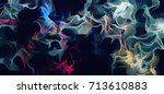 abstract illustration art chaos ... | Shutterstock . vector #713610883