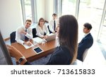 business conference... | Shutterstock . vector #713615833