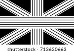 vector retro uk flag image | Shutterstock .eps vector #713620663