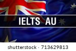 australian flag waving in the... | Shutterstock . vector #713629813