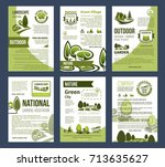 ecology  environment protection ... | Shutterstock .eps vector #713635627
