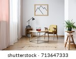 rustic design of white... | Shutterstock . vector #713647333
