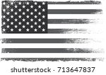 grunge american flag.vector... | Shutterstock .eps vector #713647837