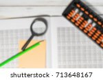 mental arithmetic blurred... | Shutterstock . vector #713648167