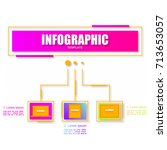 abstract infographics template... | Shutterstock .eps vector #713653057