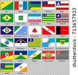 set of icons. flags of the... | Shutterstock .eps vector #713657923