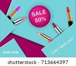 vector 3d cosmetic illustration ... | Shutterstock .eps vector #713664397