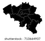 map of belgium | Shutterstock .eps vector #713664937