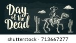 day of the dead lettering. the... | Shutterstock .eps vector #713667277