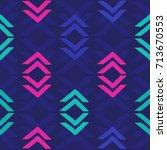 geo shapes decor vector  ... | Shutterstock .eps vector #713670553