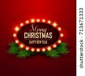 christmas background. retro... | Shutterstock .eps vector #713671333
