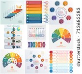 set 10 universal templates... | Shutterstock .eps vector #713682283