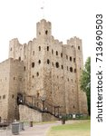 ancient rochester castle in...