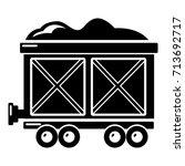 railway wagon icon . simple... | Shutterstock .eps vector #713692717