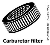 car air filters icon. simple... | Shutterstock .eps vector #713697937