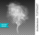 vector realistic smoke on the... | Shutterstock .eps vector #713701627