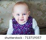 cute beautiful little girl | Shutterstock . vector #713719357