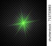 vector green glowing lights on... | Shutterstock .eps vector #713733883