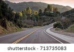 winding california highway and... | Shutterstock . vector #713735083
