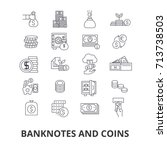 banknotes and coins  money ... | Shutterstock .eps vector #713738503