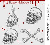 vector linear illustration of... | Shutterstock .eps vector #713738713