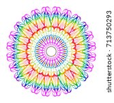 beautiful vector mandala.... | Shutterstock .eps vector #713750293