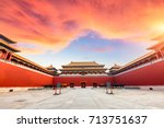 ancient royal palaces of the... | Shutterstock . vector #713751637