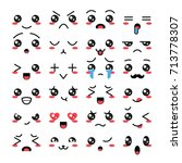 collection of cute lovely... | Shutterstock .eps vector #713778307