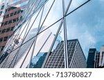 modern office building detail ... | Shutterstock . vector #713780827