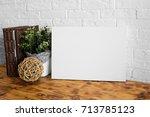 mock up poster in the interior. ...   Shutterstock . vector #713785123