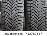 new tires for a car | Shutterstock . vector #713787667