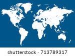 world map.   Shutterstock .eps vector #713789317