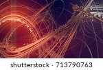 abstract gold jewelry with... | Shutterstock . vector #713790763