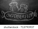 oktoberfest lettering and a...   Shutterstock . vector #713793937