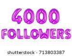 purple alphabet balloons  4000  ... | Shutterstock . vector #713803387