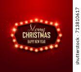 christmas background. retro... | Shutterstock .eps vector #713810617