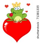 Frog Prince With A Rose Over...